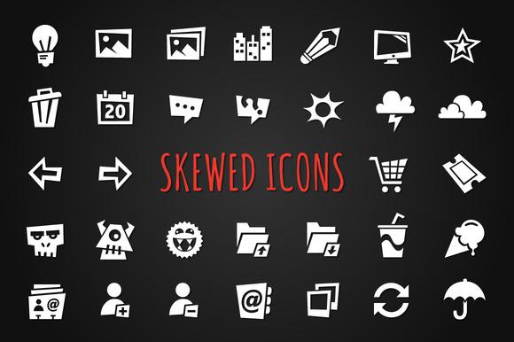 Skewed Icons