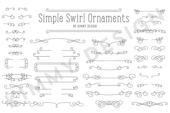 Simple Swirl Ornaments