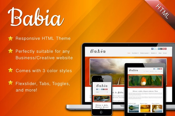 Babia Responsive HTML Template