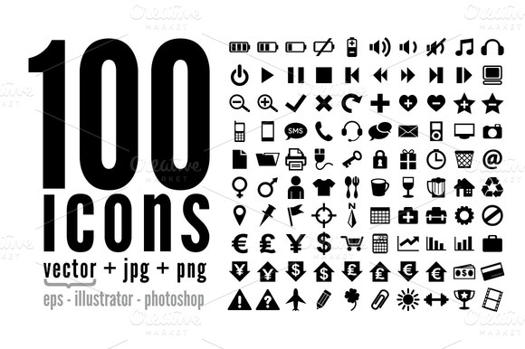 100 Icons Pack