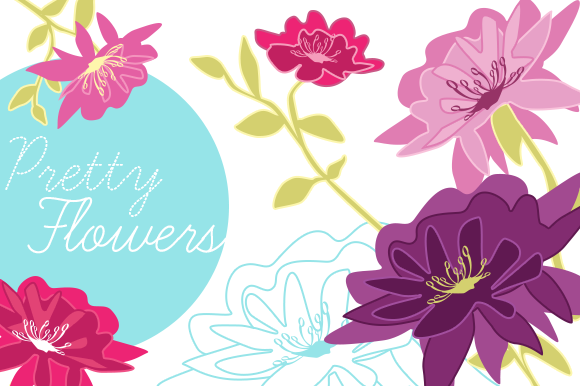 Pretty Vector Flowers
