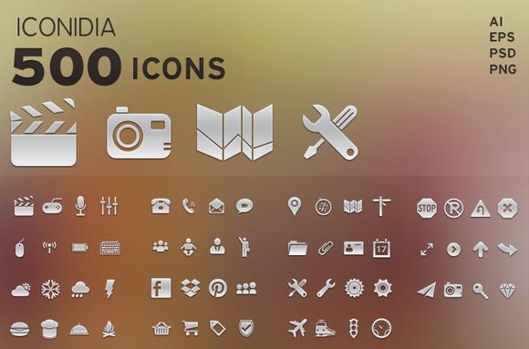 500 Icons Iconidia