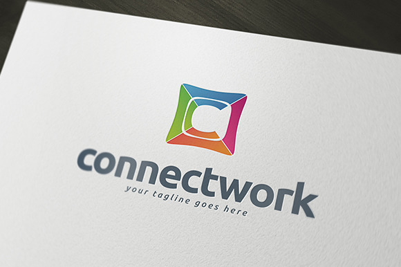 Connect Work Logo Template