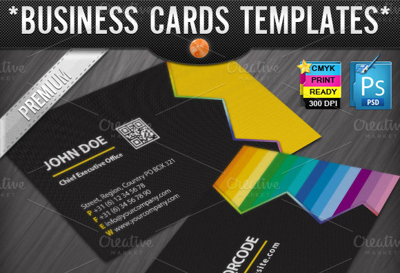 Zigzag Quick Response Business Cards