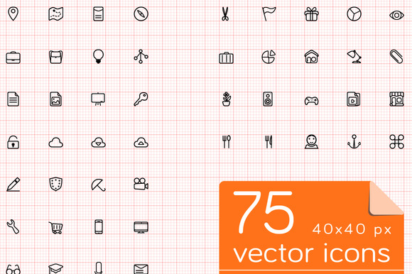 75 40x40 Px VECTOR ICONS