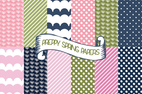 Preppy Spring Papers