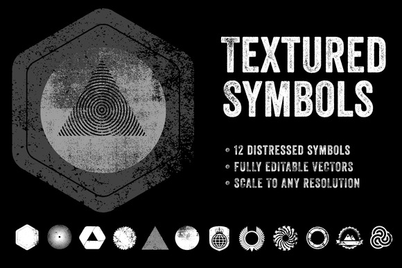 Textured Symbols Vector Collection