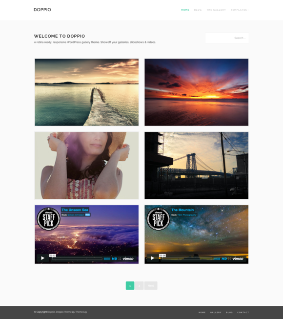 Doppio Retina WordPress Theme
