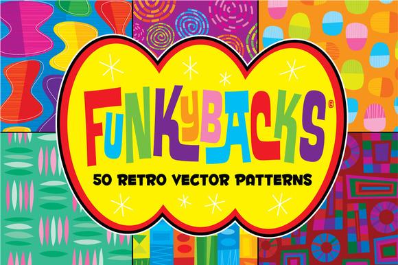 Funkybacks 50 Retro Vector Patterns