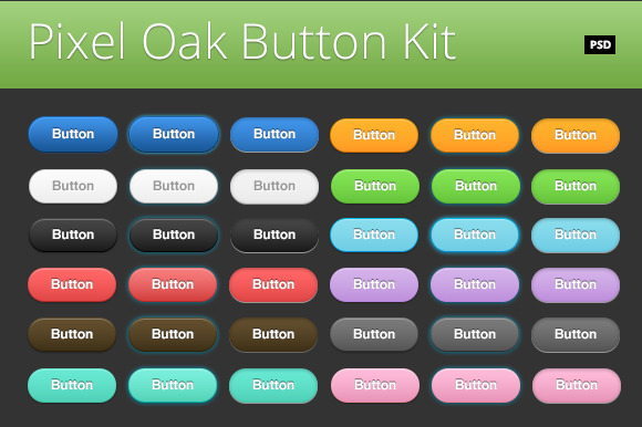 Pixel Oak Button Kit