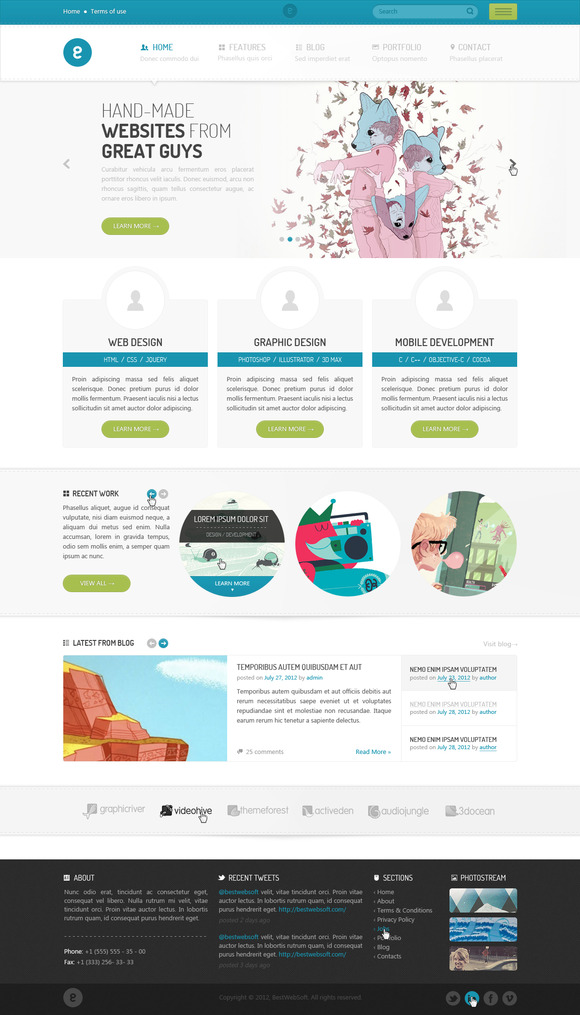Nameless Creative HTML5 Template