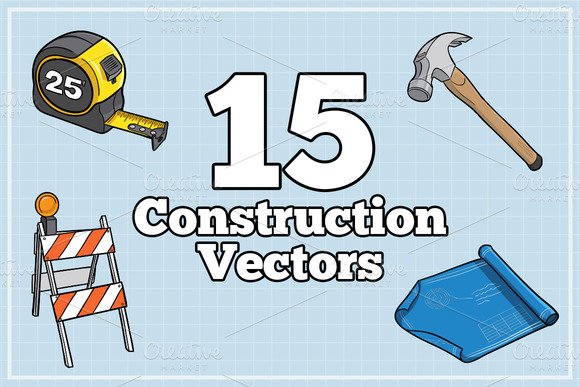 Illustrated Construction Vector Pack