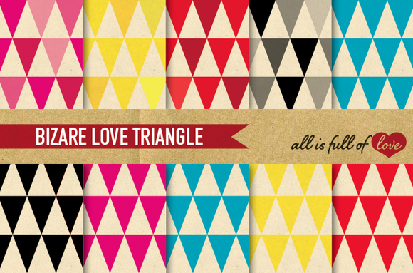 Triangles Digital Backgrounds Pack