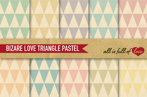 Digital Scrapbook Triangles Patterns