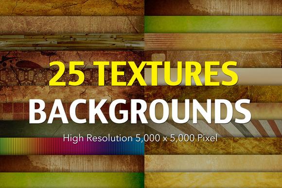 25 Textures Backgrounds