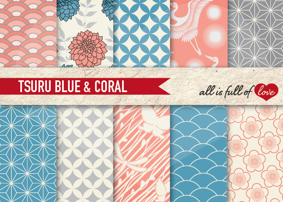 10 Japanese Pattern Printable Paper