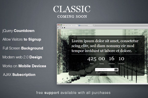 Classic Photography Countdown Page