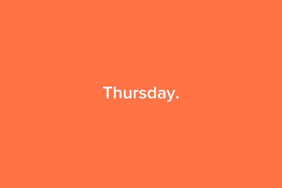 Thursday Portfolio Theme HTML CSS