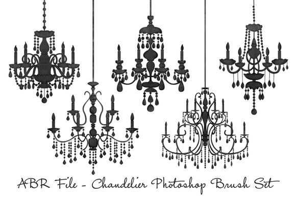 Chandelier Photoshop Brush Set