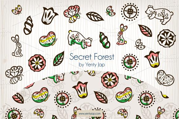 Secret Forest Vector Animal Pattern