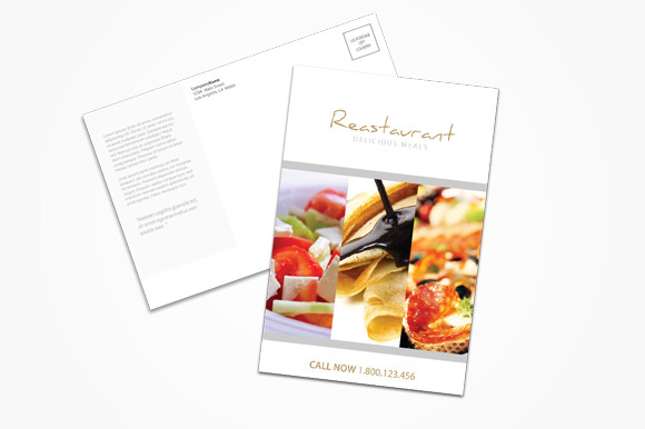 Restaurant Fast Food Postcard
