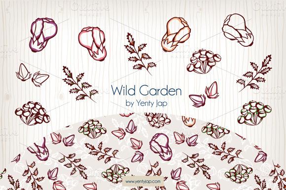 Wild Garden Vector Seamless Pattern