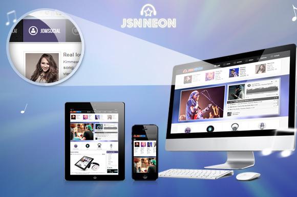 JSN Neon Music Theme JomSocial