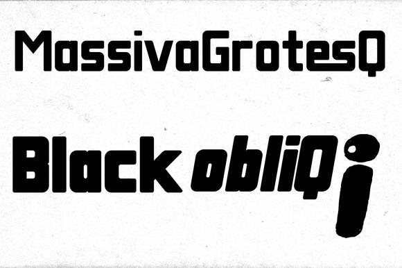 Massiva GrotesQ Black ObliQ