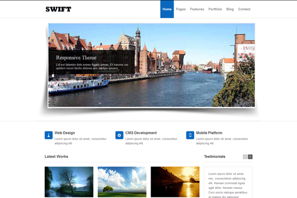 Swift Responsive HTML5 Template