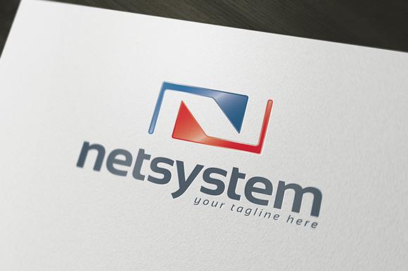 Net System Logo Template