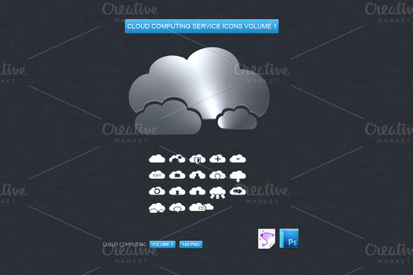 Cloud Computing Service Icons Vol 1