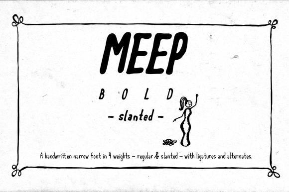 Meep Bold Slanted