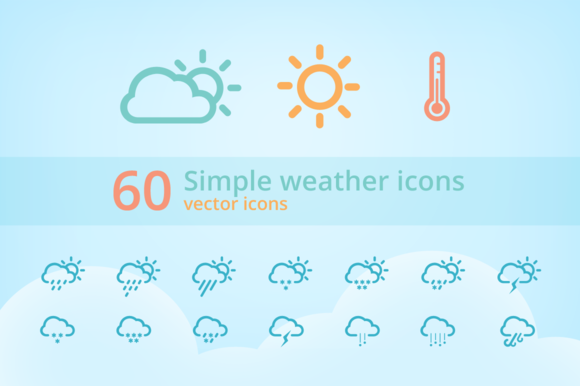 60 Simple Weather Icons