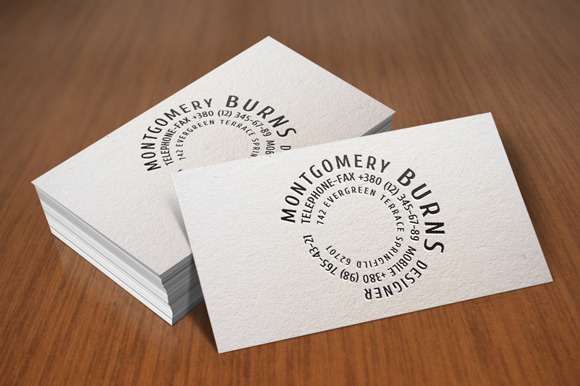 Round-type Business Card