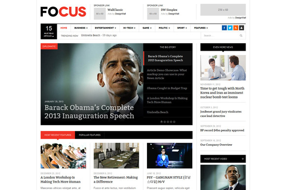 DW Focus Responsive WordPress News