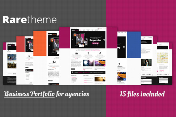 Rare Creative Unique PSD Theme
