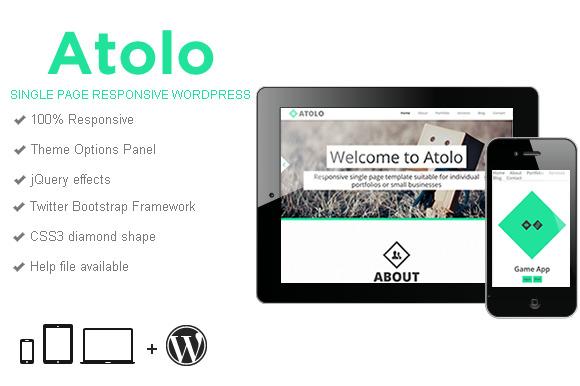 Atolo Single Page Wordpress Theme