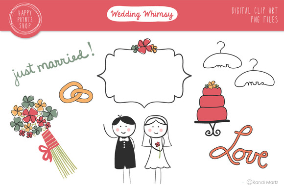Whimsical Wedding Clip Art