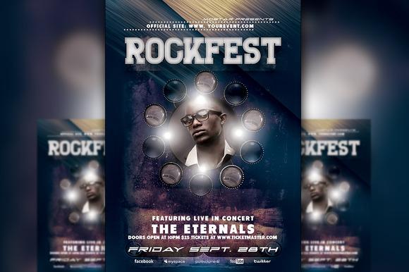 Rockfest Flyer Template
