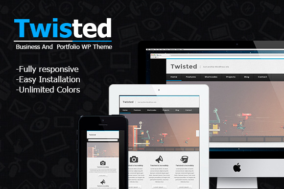 New Twisted Portfolio Theme