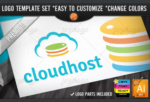 Color Server Cloud Hosting Logo