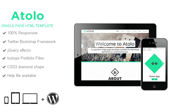 Atolo Single Page HTML Template