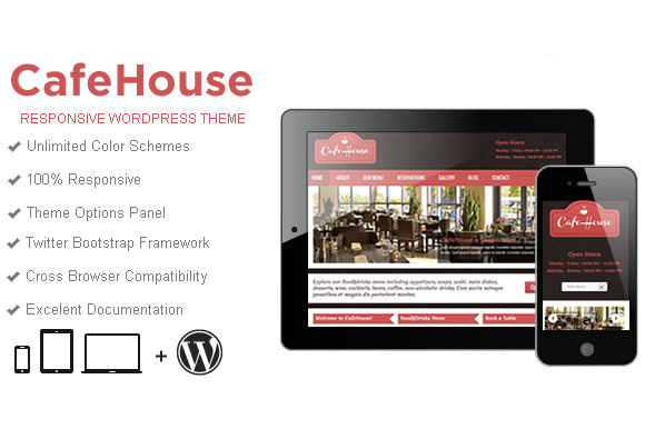 CafeHouse Restaurant WordPress Theme