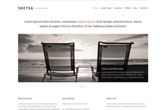 Sketsa Portfolio WordPress Theme