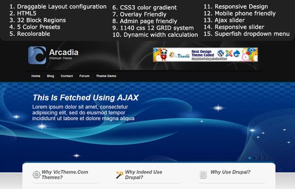 Arcadia Premium Drupal 7 Theme
