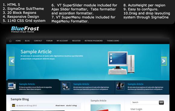 Blue Frost Premium Drupal 7 Theme