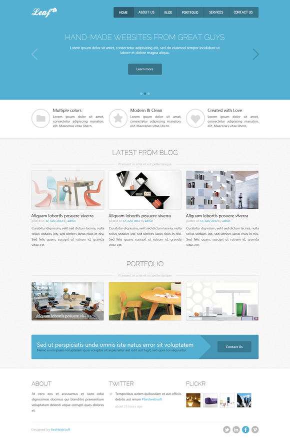 Leaf Creative HTML5 Template