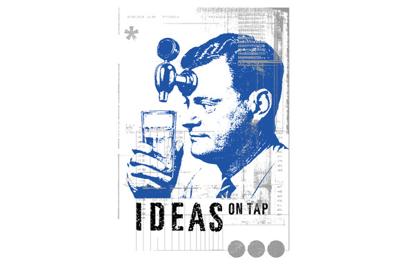 On Tap Vector Illustration
