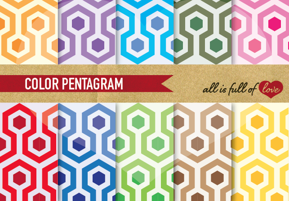 10 Pattern Backgrounds Pack Hexagon
