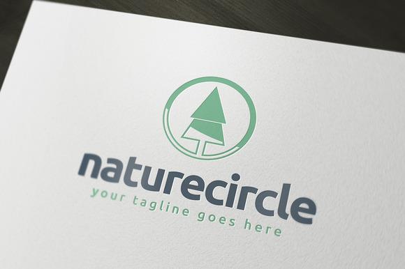 Nature Circle Logo Template